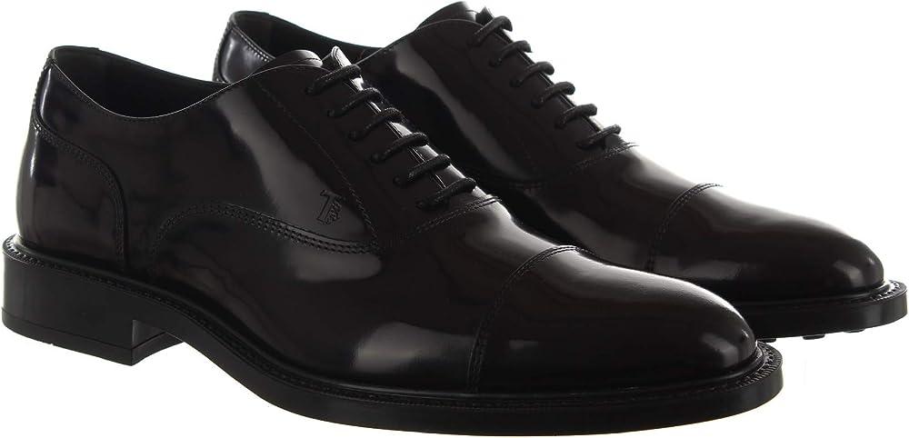 Tod`s oxford, mocassini,scarpe in pelle spazzolata,per uomo XXM45A00N50AKTB999