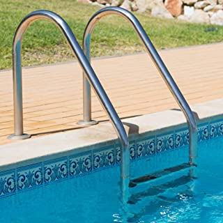 MTFY Swimming Pool Ladder, Stainless Steel Swimming Pool Step Lader for in-Pools, 3 Step Non Slip Heavy Duty Pool Entry Ladder with Easy Mount Legs
