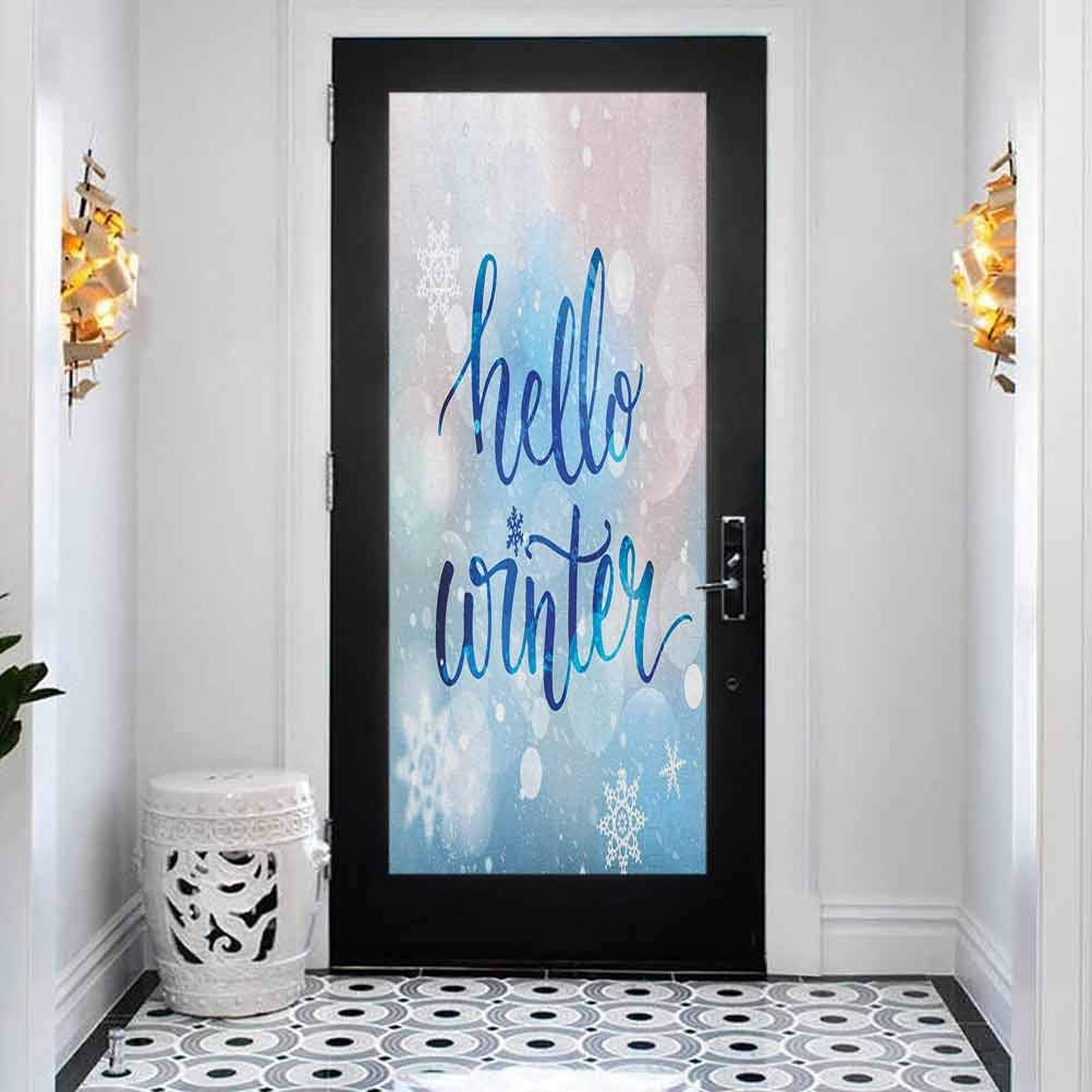 Complete Free Shipping 3D Door Mural Decals Wall Wallpaper Hello OFFicial mail order Winter Murals