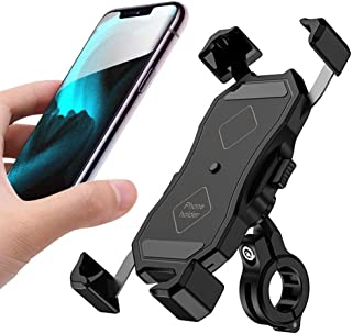 Bike Phone Holder, Bicycle & Motorcycle Cell Phone Mount One-Handed Operation with 360° Rotation for iPhone 11 Pro Max X X...