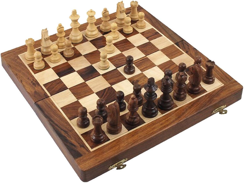 Schachspiel mit Kassette, 40 cm