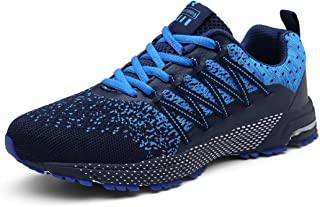 Zapatillas de Deporte Hombres Running Zapatos para Correr Gimnasio Sneakers Deportivas Padel Transpirables Casual Montaña
