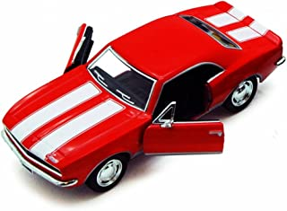 1967 Chevy Camaro Z/28, Red - Kinsmart 5341D - 1/37 scale Diecast Model Toy Car (Brand New, but NO BOX)