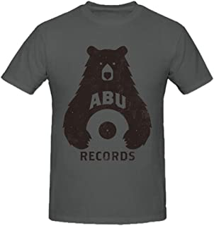Mens Cotton Abu Records Logo Crew Neck Shirts