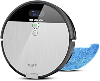 ILIFE アイライフ V8s ロボット掃除機 水拭き両用 吸引力が強い ペットの毛に効果的 大容量ダストボックス フローティング吸引口