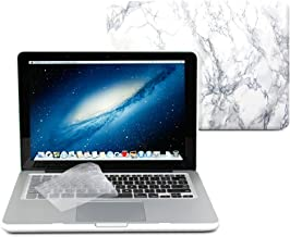 GMYLE 2 in 1 - White Marble Pattern Frosted Matte Hard Case for MacBook Pro Retina 13 inch (Models: A1425 and A1502) - with Transparent Keyboard Cover (not fit for 13 MacBook Pro)