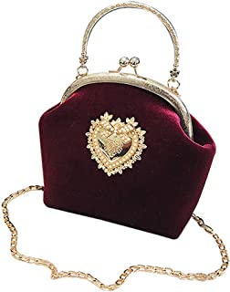 Womens Elegant Handbag Heart Design Large Capacity Wedding Party Bride Purse