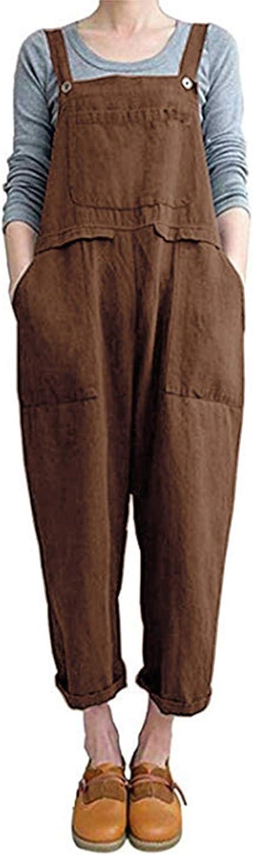ZANZEA Womens Baggy Overalls Jumpsuit Size Plus online shop Pants Max 55% OFF Bib Casual