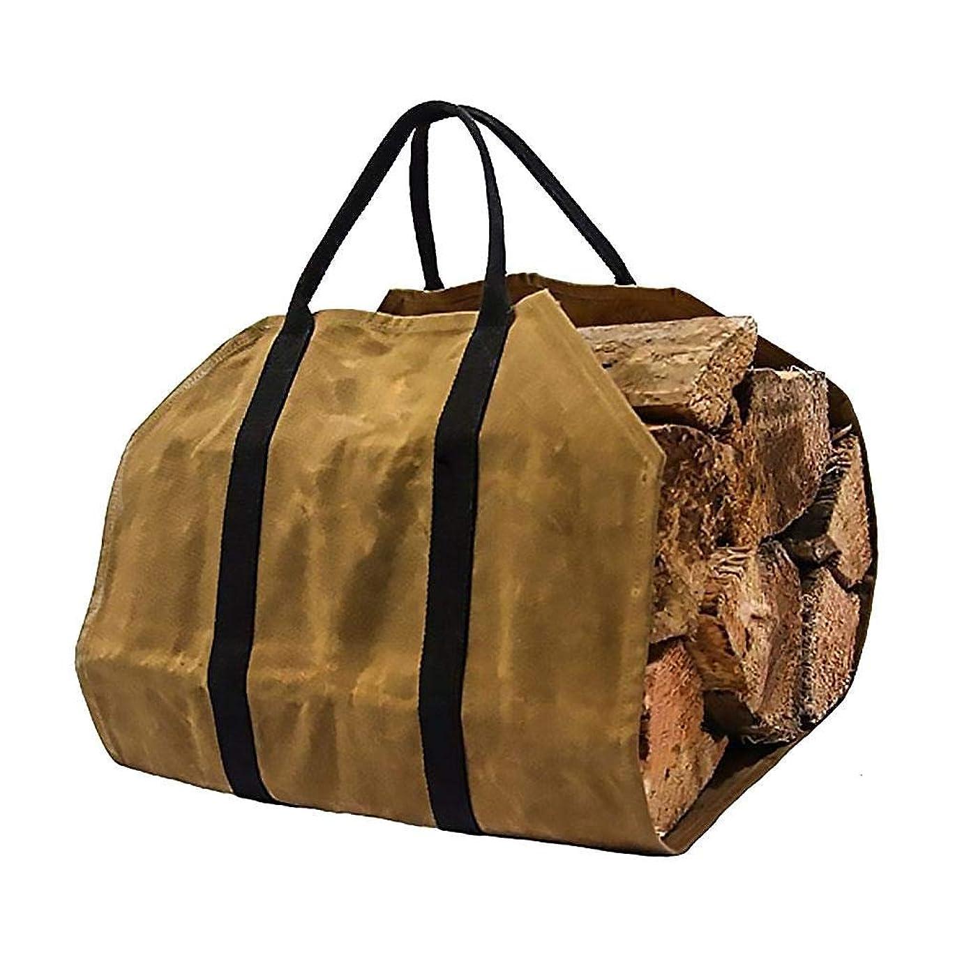 戦う崖不変薪ストーブ キャリーバッグ ハンドバッグ 大容量薪バッグ 防水キャンバス伐採袋 持ち運びが易い 折りたたみできる 携帯用薪貯蔵袋 ストレージクリーニング用品 約90 48cm