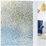 LMKJ Pellicola per Mosaico per finestre con Privacy Decorativa statica Senza Colla 3D, utilizzata per Adesivi coloranti Anti-UV per Il Controllo del Calore in Vetro A43 30x100cm