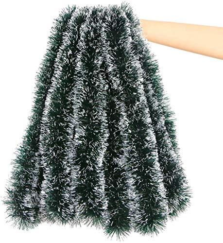 LOKIPA Lametta-Girlande, 10 m, klobig, für Weihnachtsbaum und Heimdekoration