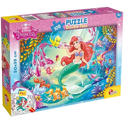 Lisciani Giochi-Disney: The Little Mermaid Puzzle, 108 Pezzi, Multicolore, 48069
