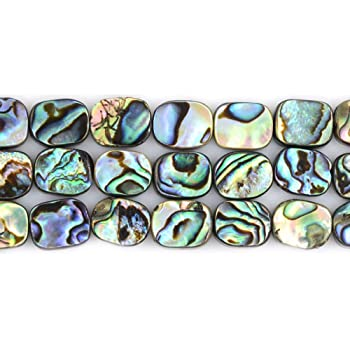 Abalone rectangle graduated pendant beads set of 13pcs 21pcs 41pcs