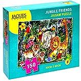 Jaques of London Jungle Friends Puzzle para niños - Puzzle de 150 Piezas para niños - Puzzle Recomendado para niños de 6 años -