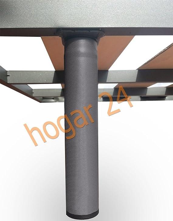 HOGAR24 Somier Lama Ancha Reforzada con Tacos Anti-Ruido Y Tubo De Acero 40x30 + Patas Cilindricas De 32cm (160x190cm) (2 Somieres De 80cm con ...