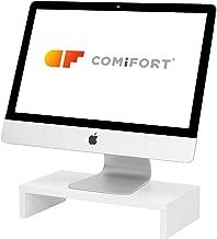 COMIFORT® Soporte para Monitor Ordenador TV Portátil Elevador De Pantalla (Blanco)