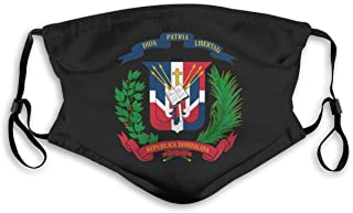 IuER90@E Dominican Republic Flag Pm2.5 Face Bandana Men Women 5-Layer Activated Carbon Filters Breathable Scarf Shield