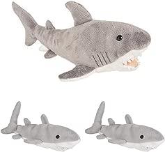 """لعبة المغامرة بلانيت من شركة جست 4 فن - عائلة القرش البيضاء الرائعة (1) 13"""" و(2) 6"""" مينيس - أم آند بيبيز - حيوانات محشوة - حياة المحيط - هدية رائعة لأسبوع القرش الناعم"""