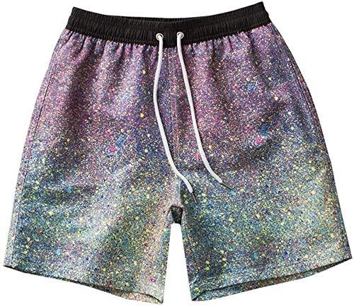 Traje de baño de moda Hombres nadar pantalones cortos troncos de los troncos de los hombres del verano de los hombres Pantalones de playa de secado rápido Surf Pantalones de playa Casual Pantalones de