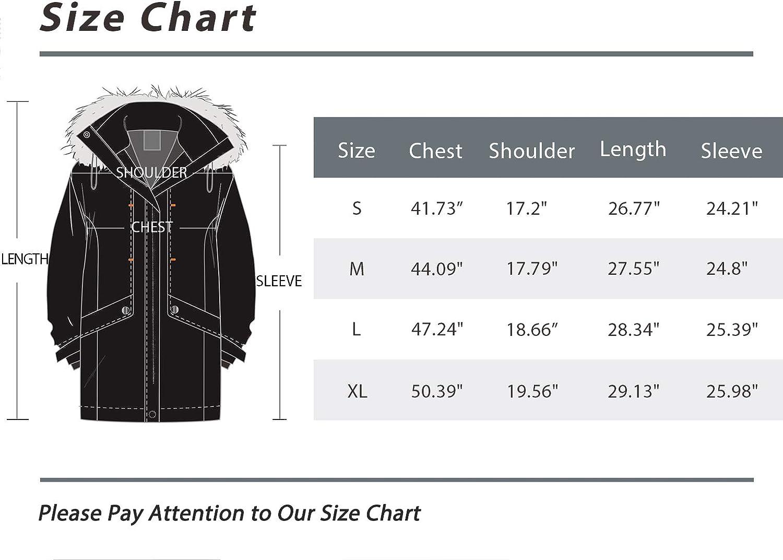 Wantdo Women's Down Jacket Water Resistant Warm Winter Parka Long Puffer Coat with Fur Hooded