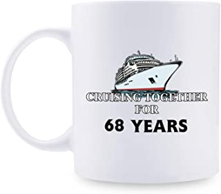 68th Anniversary Gifts - 68th Wedding Anniversary Gifts for Couple, 68 Year Anniversary Gifts 11oz Funny Coffee Mug for Couples, Husband, Hubby, Wife, Wifey, Her, Him, cruising together