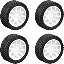 uxcell 30mm Rubber Toy Car Wheel Tires DIY Model Robots 4pcs, White and Black