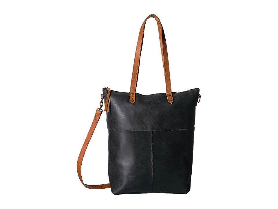 ABLE Chaltu Crossbody Tote (Black/Cognac) Cross Body Handbags