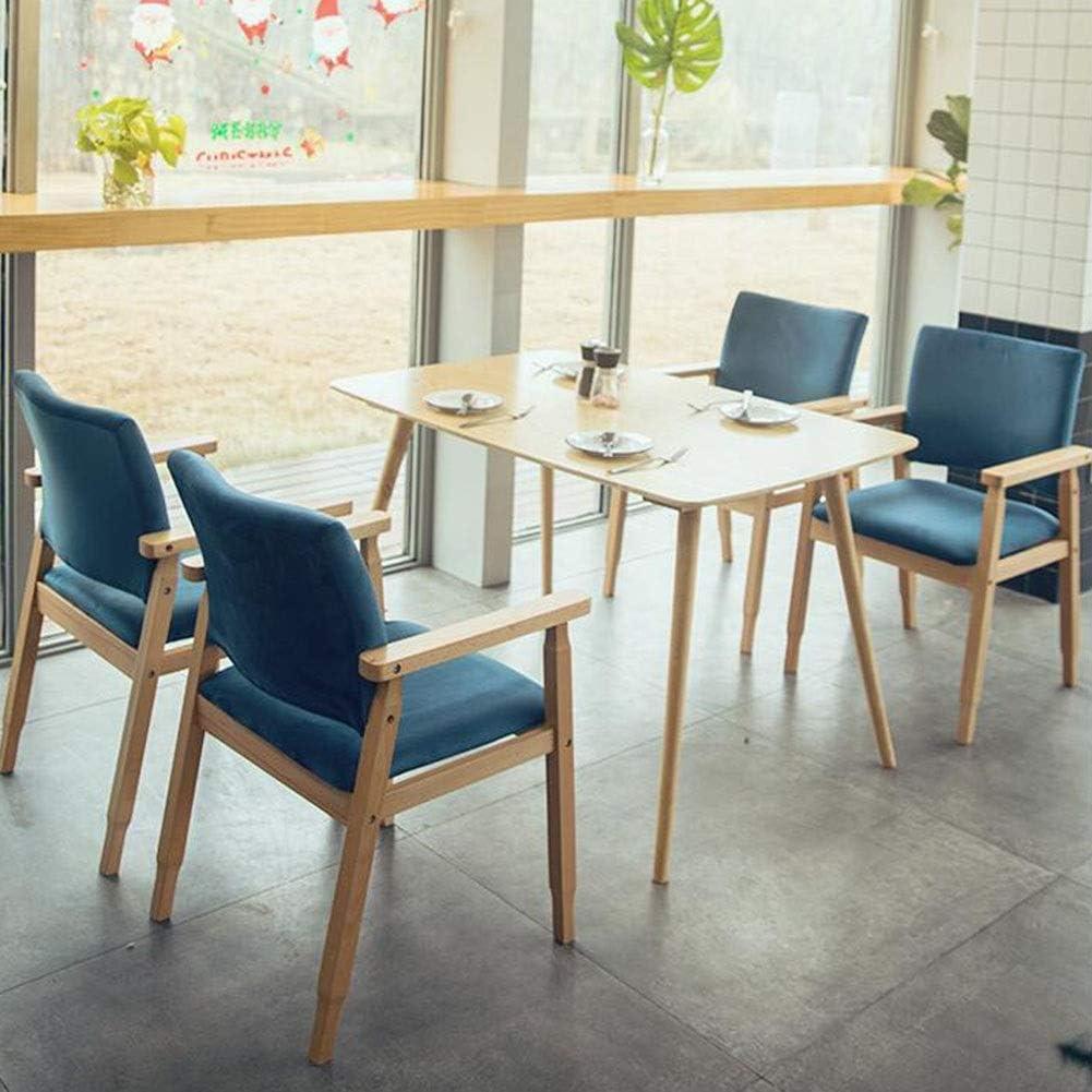 WYYY chaises Chaise De Salle À Manger Jambes De Bois Chaise De Dossier De Loisirs Rembourrés Chaises De Table Facile À Assembler Chaise De Bureau Durable fort (Color : Gray) Blue
