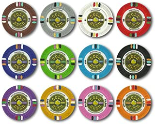 Claysmith Gold Rush 14gm Clay Poker Chips - 12 Chip Sample Set