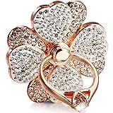 Cell Phone Ring Holder, Diamond Cell Phone Finger Ring Grip for Girls Women,fit All Phone (Rosegold)