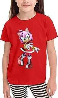 maichengxuan Camiseta para niños y niñas Sonic Hedgehog Amy Rose estilo casual para niños y niñas