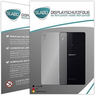 Slabo 2 x skärmskyddsfolie kompatibel med Sony Xperia Z2 RÜCKSEITE skärmskydd skyddsfolie No Reflexion|Ingen Reflektion MA...