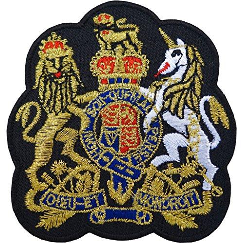 Parche bordado con el escudo del Reino Unido, con la corona de oro británica, para planchar o coser