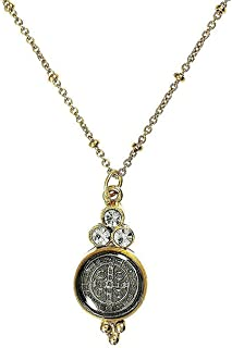 VSA Designs- Virgins Saints and Angels San Benito Lucia Charm in Gold with Clear Crystal