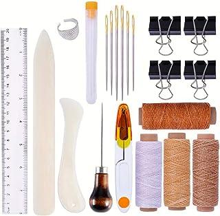 Winwinfly Outils de Couture en Cuir Outils d'artisanat en Cuir Bricolage Ensemble d'outils de Couture à la Main