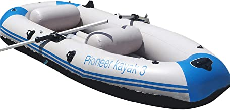 Yocalo Inflatable Boat Series,raft Inflatable Kayak, Fishing Boat Kayak,1,2,3,4 Person Boat with Aluminum Oars, Cushion, R...