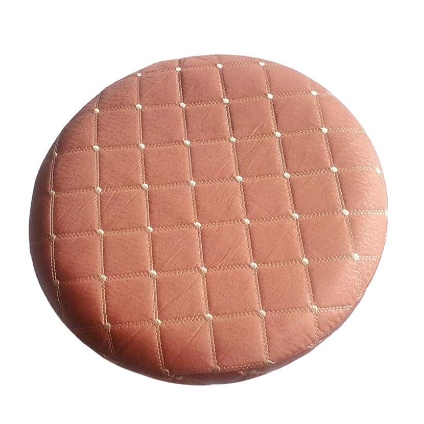ハングこどもの日腐食するスツールクッション ラウンド 丸椅子カバー 座布団カバー 取り付け簡単 全8色2サイズ - ブラウン, 直径35cm