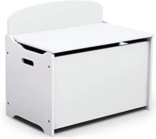 Delta Children MySize Deluxe Toy Box, Bianca White