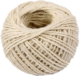 RayLineDo 2mm Jute Twine String 3-Ply 100 Meter Hemp Rope Cord for Tag, Gifts Wrapping, Wedding Decoration, Office, Gardening Projects in White