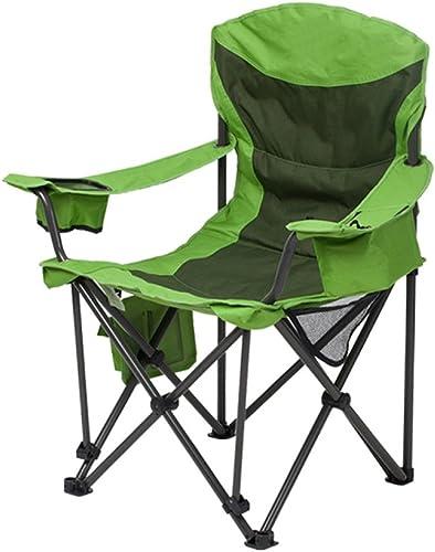 LDFN Portable Chaise De Camping Outdoor Chaise Multifonctions Pêche Simple Oxford Tissu Et Iron Lounge Chair,vert-91  63  106cm