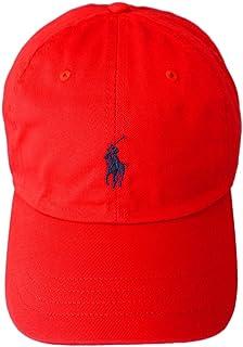 (ポロ ラルフローレン)POLO Ralph Lauren キャップ CAP 帽子 ハット メンズ レディース PONY ポニー ワンポイント レッド×ネイビー - [並行輸入品]