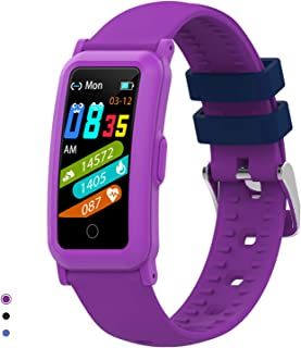 BingoFit Kids fitness tracker och klocka för flickor och pojkar, vattentät aktivitetsmätare med puls- och sömnmonitor, dig...