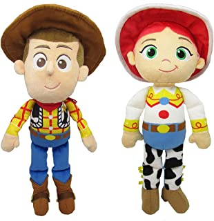 JEM SHOP Disney Toy Story, 1 Woody Plush Doll and 1 Jessie Plush Doll, 8 Inch Bundle, Toddler 2 Pack Gift Set
