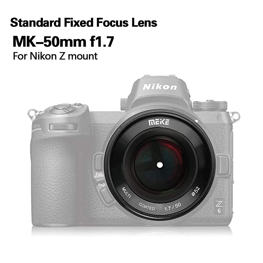 Meike 50mm f/1.7 Large Aperture Manual Focus Lens Full Frame for Nikon Z-Mount Mirrorless Cameras Nikon Z6 Z7