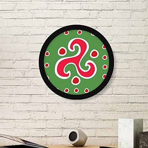 DIYthinker Spiral Dart Mexiko Totems Antike Kultur Zeichnung Runde Bilderrahmen Kunstdrucke von Paintings Startseite Wandtattoo Geschenk Small Schwarz