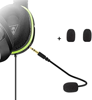 Micrófono de repuesto para micrófono de 3,5 mm – PDP Afterglow AG 6 con cable Xbox One PS4 Gaming Headset Turtle Beach Ear Force XO ONE Stealth 420X Recon 320 Z60 (1 paquete)