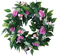KESYOO Artificial Flower Wreath Front Door Floral Garland for Farmhouse Office Home Christmas Seasonal Decor