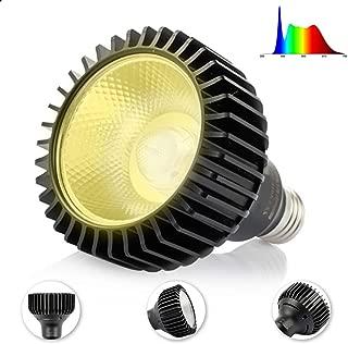 LED Grow Light Bulb Daylight 15W Full Spectrum Sunlight for Indoor Plants White Light for Vegetables and Seedlings E26 Base