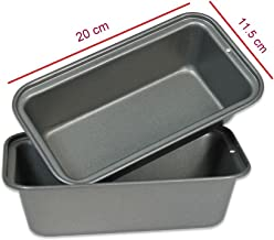 Royals Medium Non Stick Carbon Steel Baking Tray, Loaf pan, Bread Mould- 20 cm (Pack of 1)