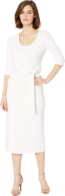 1T Matte Jersey Barrie 3/4 Sleeve Day Dress